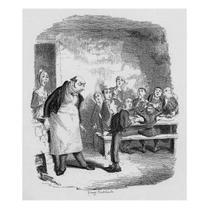 Oliver Asking for More, from 'The Adventures of Oliver Twist' by Charles Dickens by George Cruikshank