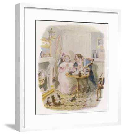 Oliver Twist: Mr. Bumble and Mrs Corney Taking Tea