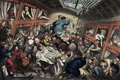 Ostend Packet in a Squall: a View of Passengers by George Cruikshank