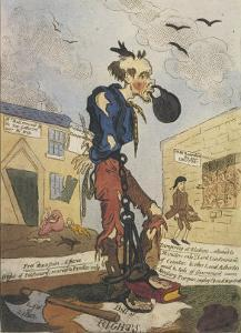 Satirical View of the Free- Born Englishman Following the Peterloo Massacre by George Cruikshank