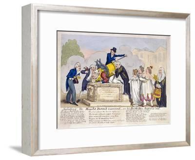 Scene at Horse Guards Parade, London, 1816