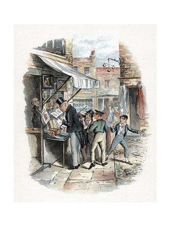 Scene from Oliver Twist by Charles Dickens, 1837-1839 by George Cruikshank