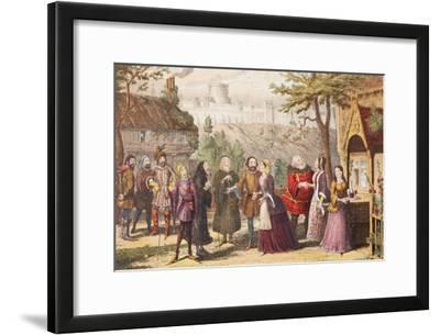 Sir John Falstaff on a Visit to His Friend Page at Windsor, Illustration from the Merry Wives of…