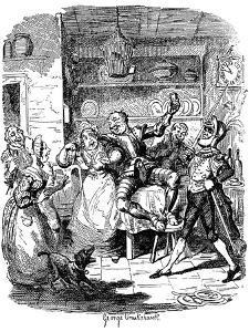 'Sketches by Boz' by Charles Dickens by George Cruikshank