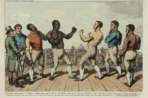 The Battle Between Cribb and Molineaux by George Cruikshank