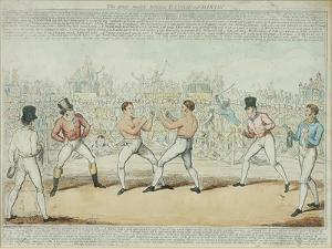 The Great Match Between Randall and Martin by George Cruikshank