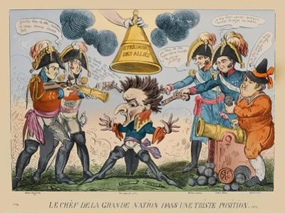 The Head of the Great Nation in a Queer Situation, 1813 by George Cruikshank