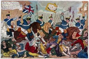 The Massacre of Peterloo, or Britons Strike Home, 1819 by George Cruikshank
