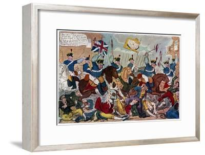 The Massacre of Peterloo, or Britons Strike Home, 1819