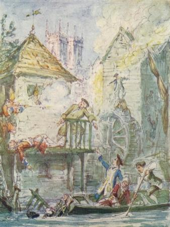 The Miser's Daughter: 19/20, Dispersion of the Jacobite Club, c1842, (1913) by George Cruikshank
