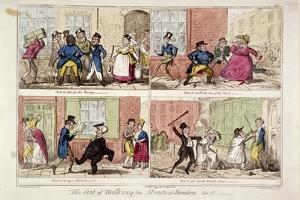 Walking the Streets of London, 1818 by George Cruikshank