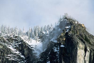 Snow-Covered Mountain near Yosemite Valley