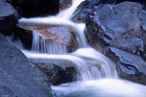 Water Flowing over Rocks in Stream by George D Lepp