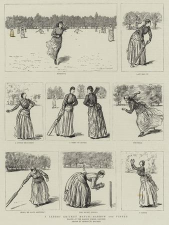 A Ladies' Cricket Match, Harrow Versus Pinner