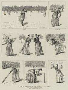 A Ladies' Cricket Match, Harrow Versus Pinner by George Du Maurier