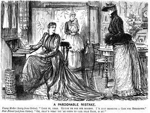 A Pardonable Mistake, 1889 by George Du Maurier