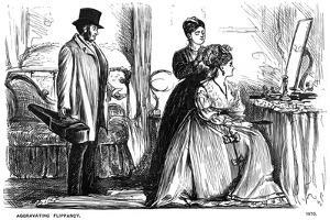Aggravating Flippancy, 1870 by George Du Maurier
