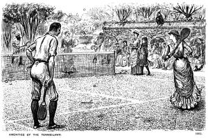 Amenities of the Tennis Lawn, 1883 by George Du Maurier