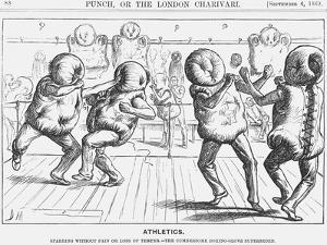 Athletics, 1869 by George Du Maurier