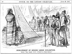 George Du Maurier Cartoon from Punch Illustrating Darwinism, 1887 by George Du Maurier