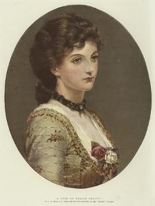 A Type of Female Beauty by George Dunlop Leslie