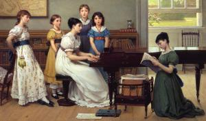 Home, Sweet Home (detail) by George Dunlop Leslie