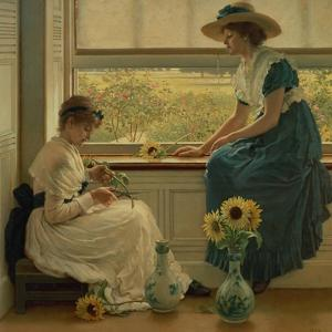 Sun and Moon Flowers, 1889 by George Dunlop Leslie