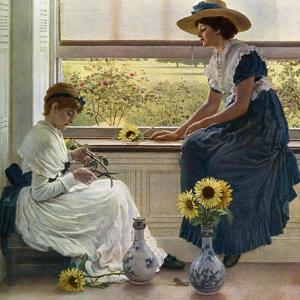 Sun and Moon Flowers, 1890 by George Dunlop Leslie