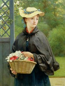 The Gardener's Daughter, 1876 by George Dunlop Leslie