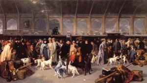 Going North, King Cross 1893 by George Earl