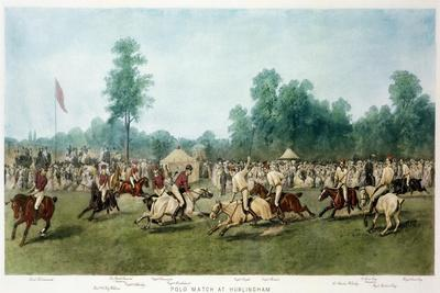 Polo Match at Hurlingham Between the Horse Guards (Blue) and the Monmouthshire Team, 7th July 1877