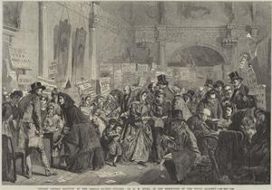 Infant Orphan Election at the London Tavern, Polling by George Elgar Hicks