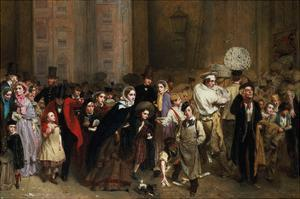The General Post Office, One Minute to Six: 1860 by George Elgar Hicks