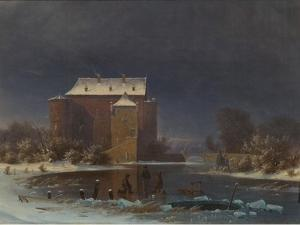 Snow Scene: the Haunted House by George Emil Libert
