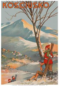 Mount Kosciuszko, Australia - Skiing by George Ernest Akinhead