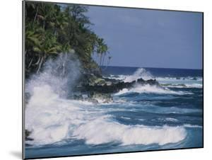 A Coastal View of the Southeast Corner of Hawaii by George F. Mobley