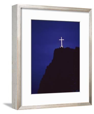 A Large Cross Situated on a Rocky Headland