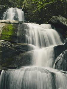 Laurel Falls, One of the Most Popular Falls in the Great Smoky Mountains by George F. Mobley