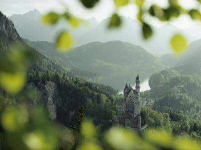 Neuschwanstein Castle of King Ludwig Along the Alp-See by George F. Mobley