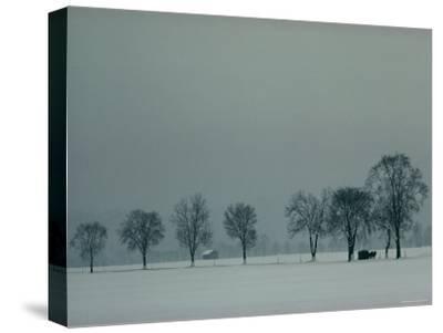 Rural Scenic in Snow, Bavaria, Germany