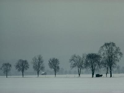Rural Scenic in Snow, Bavaria, Germany by George F. Mobley