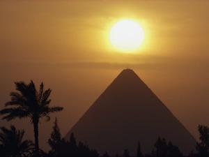 The Pyramid of Cheops, the First and Largest of the Three Pyramids of Giza by George F^ Mobley