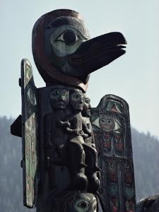 Tlingit Indian Totem Pole by George F. Mobley