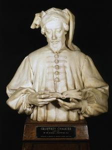 Bust of Geoffrey Chaucer, Medieval English Poet, 1902-1903 by George Frampton