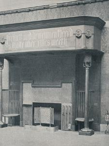 'Fireplace designed by C. Harrison Townsend with carving designed and executed by George Frampton' by George Frampton