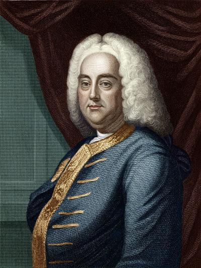 George Frederic Handel, Engraved by Thomson-English School-Giclee Print