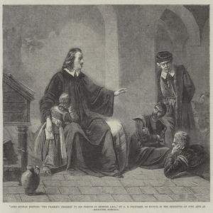 John Bunyan Reciting 'The Pilgrim's Progress' to His Friends in Bedford Gaol by George Frederick Folingsby