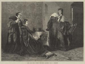 Lady Jane Grey's Victory over Bishop Gardiner by George Frederick Folingsby