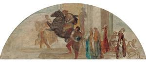 Composition Sketch for an Unexecuted Mural by George Frederick Watts