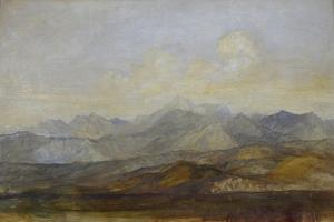 The Carrara Mountains from Pisa, 1845 - 1846 by George Frederick Watts